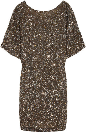 Vince Sequined georgette mini dress