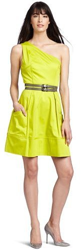 Jessica Simpson Women&#039;s Gathered Assymetric Utilitarian Dress