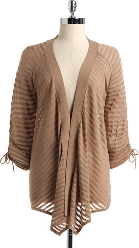 GRACE ELEMENTS Striped Cardigan