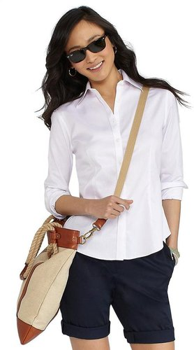 Non-Iron Fitted Small Stripe Dress Shirt with XLA
