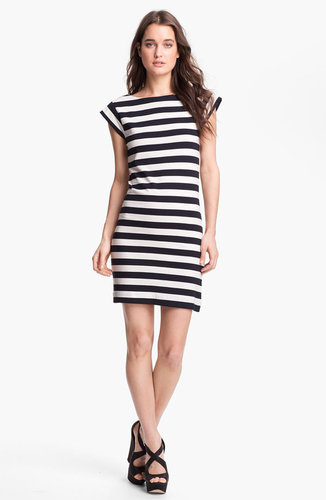 French Connection Stripe Cap Sleeve Knit Dress