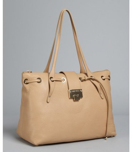 Jimmy Choo nude leather 'Rhea' large tote