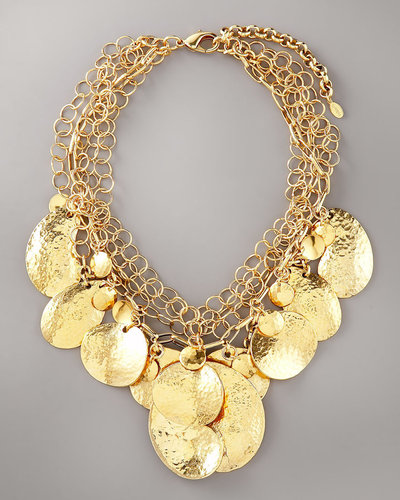 Jose &amp; Maria Barrera Hammered Disc Necklace