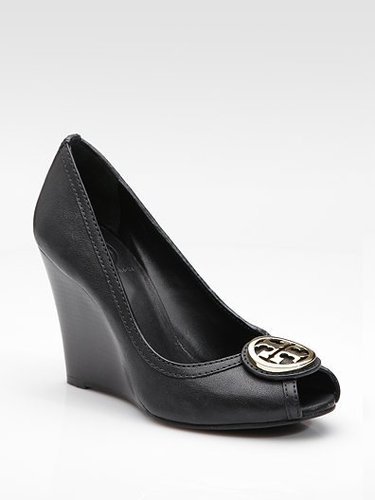 Tory Burch Peep-Toe Wedge Pumps