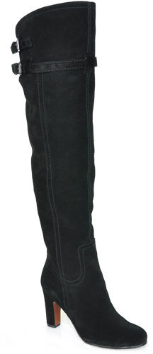 Sam Edelman - Sutton - Black Suede Over the Knee Boot