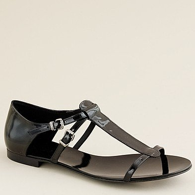 Iris patent sandals