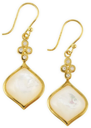 Elizabeth Showers Simone Drop Earrings, Mother-of-Pearl