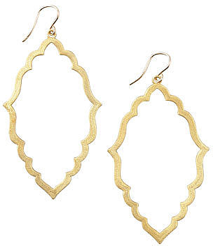 Dogeared Always Beautiful Moroccan Hoop Earrings, Gold