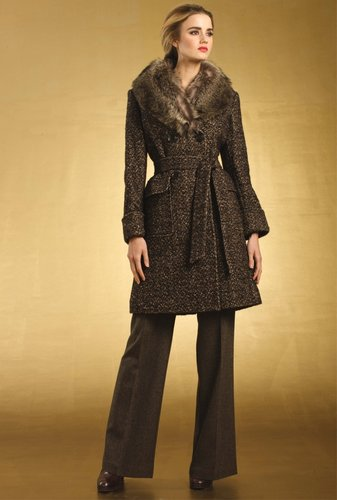 Trina Turk Christina Tweed Coat