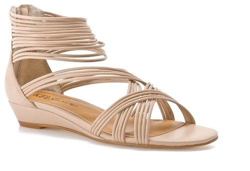 Kelsi by Kelsi Dagger Kirby Wedge Sandal - Nude