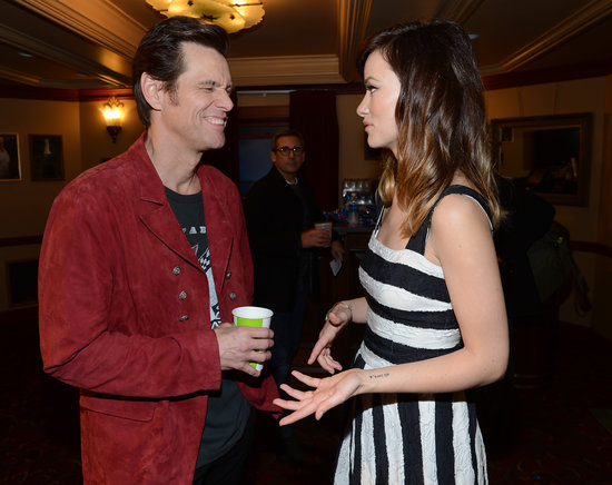 Olivia Wilde and Jim Carrey chatted at the 2013 SXSW Music, Film + Interactive Festival in Texas.