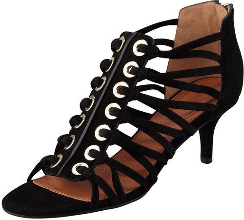 Givenchy Cage Zip-Back Sandal
