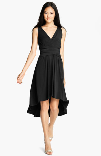 Suzi Chin for Maggy Boutique Pleated Front V-Neck Dress
