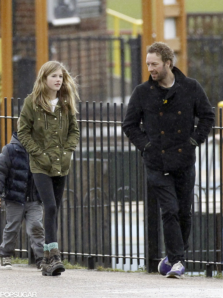 Chris Martin wore a peacoat.
