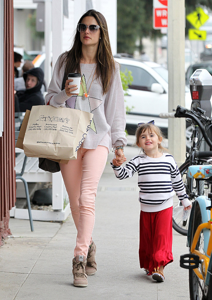 Alessandra Ambrosio Breaks From Bikini Work to Hang With Her Kids