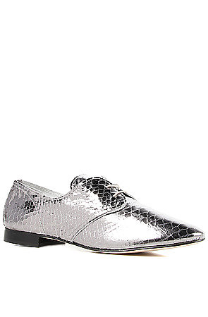 Anniel Shoe Leather Sole Derby in Platinum Reptile