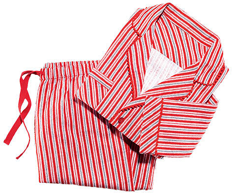Candy Cane Cotton PJ Set in Misses