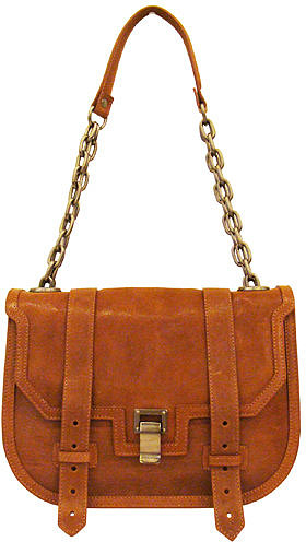 Proenza Schouler Mini Messanger With Chain Handle In Saddle