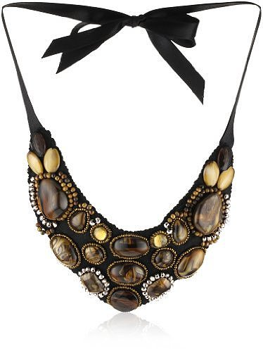 RAIN Wood Bead Bib Necklace