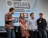 Olivia Wilde joined her Drinking Buddies co-stars for a panel at SXSW.