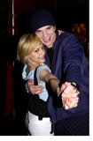 Brittany Murphy and Ashton Kutcher danced at Danny Masterson's St. Patrick's Day party in LA in March 2002.