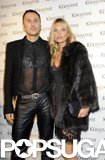 Kate Moss posed with Luigi Murenu at the Kérastase Couture Styling Line launch party on Monday in London.
