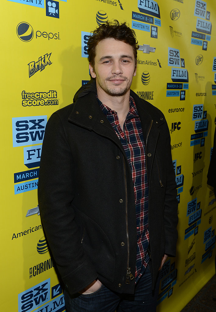 James Franco went casual on the red carpet.
