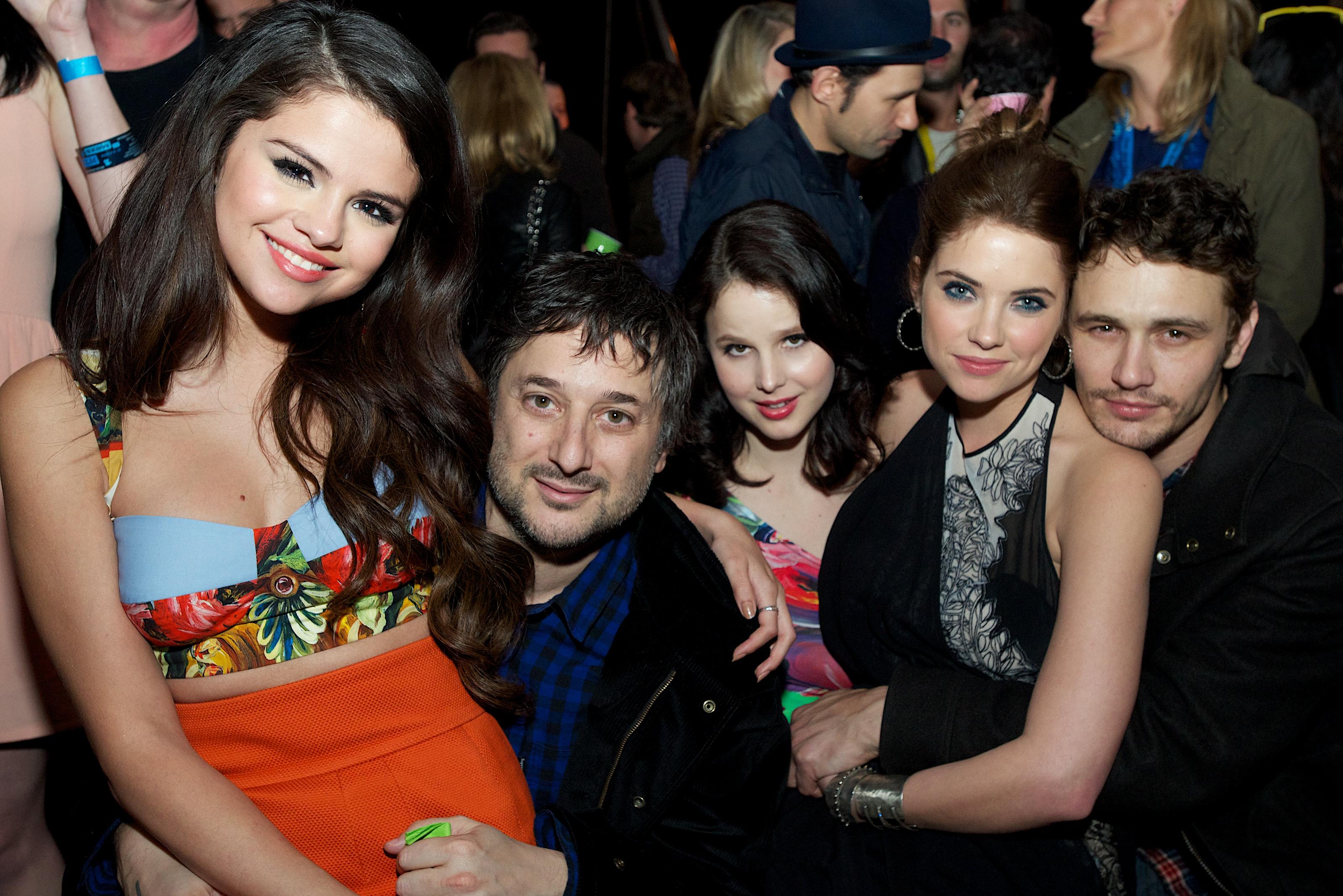 Selena Gomez, Harmony Korine, Rachel Korine, Ashley Benson, and James Franco celebrated at the Spring Breakers afterparty at SXSW.
