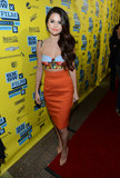 Selena Gomez stepped out in a formfitting Dolce & Gabbana crop top and high-waisted pencil skirt at 2013 SXSW.