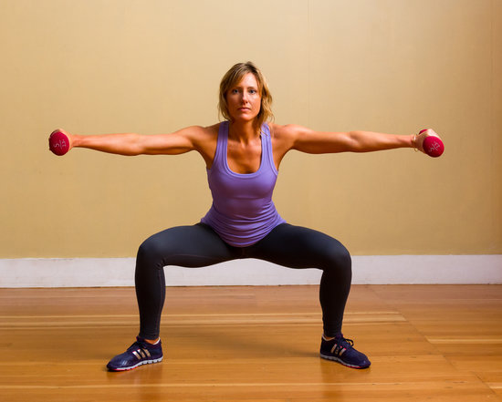 Circuit Two: Pli Squat With Side Arm Raises