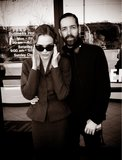 Kate Bosworth rocked retro shades on the set of Rememory with director Michael Polish. Source: Twitter user katebosworth