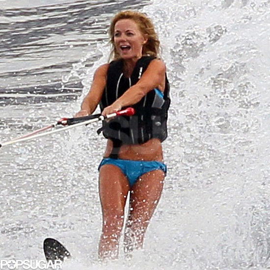 Geri Halliwell wore a bikini off the coast of France following her split with boyfriend Henry Beckwith in August 2011.