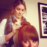 Lea Michele got her bun done. Source: Instagram user msleamichele
