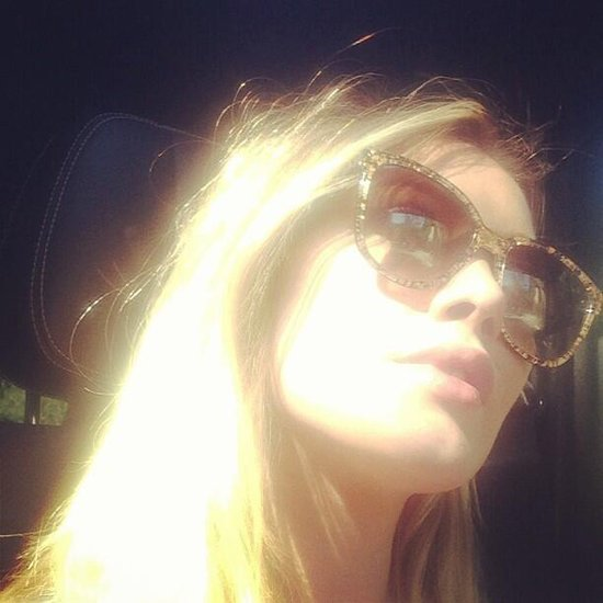 Hilary Duff snapped a photo while wearing her favorite pair of shades. Source: Twitter user HilaryDuff