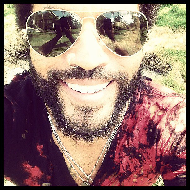Lenny Kravitz shared a smiley photo with his followers. Source: Instagram user lennykravitz