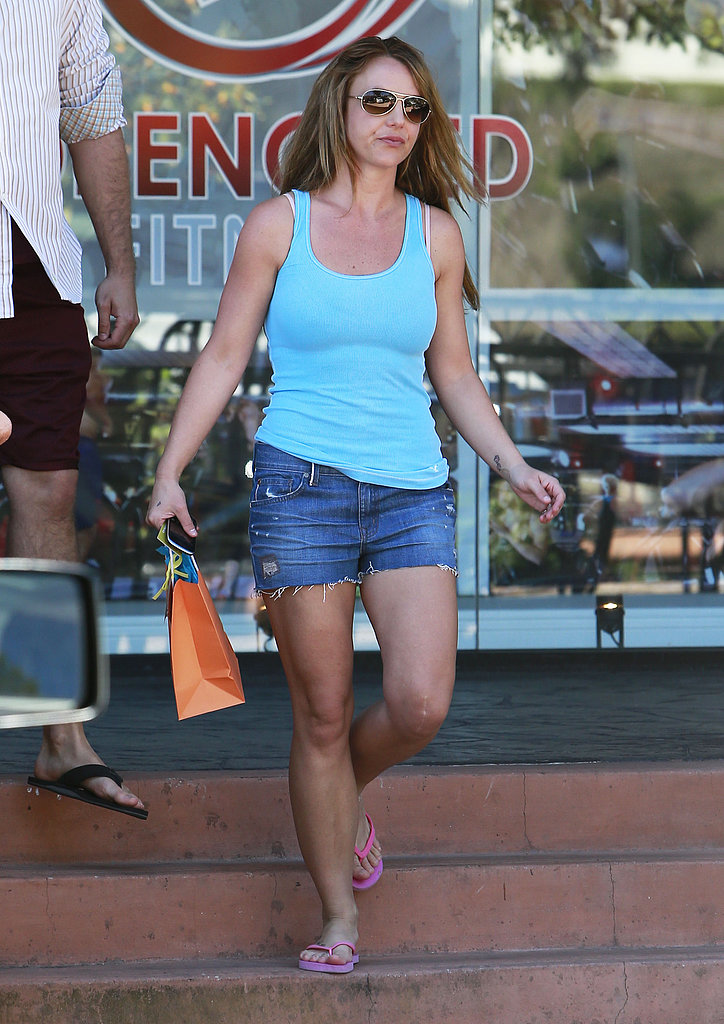 Britney Spears showed off her legs in short shorts in LA.
