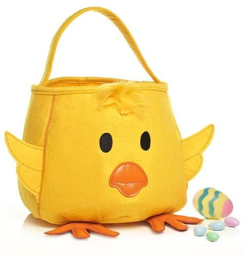 Easter Chick Yellow Felt Tote