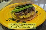 Steak, Egg &amp; Avocado Breakfast Sanwich