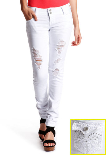 Almost Famous Jeweled Skinny Jean
