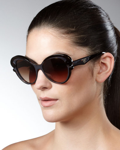 Prada Cat-Eye Sunglasses  BrownPrada Cat Eye Sunglasses 2013