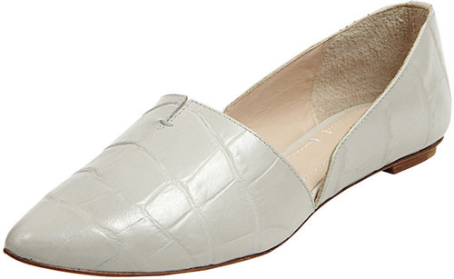 Elizabeth and James Merri Croc-Embossed d&#039;Orsay Flat