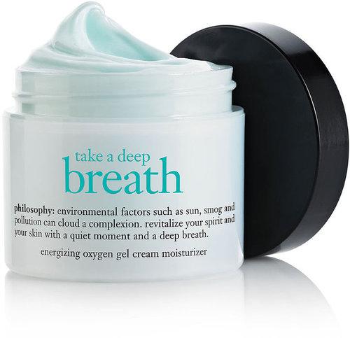 Philosophy take a deep breath oil-free energizing oxygen gel cream moisturizer 2 oz