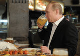 Russian leader Vladimir Putin headed to a Moscow bar for Labor Day in 2013.
