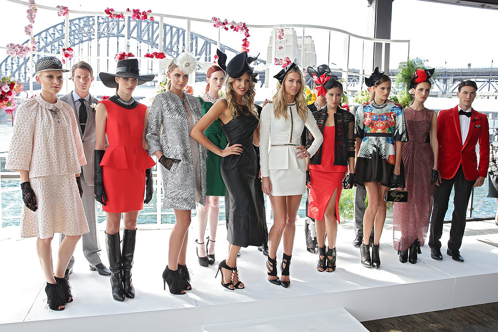 Jennifer Hawkins Showcases Autumn/Winter Racing Style For Myer in Sydney
