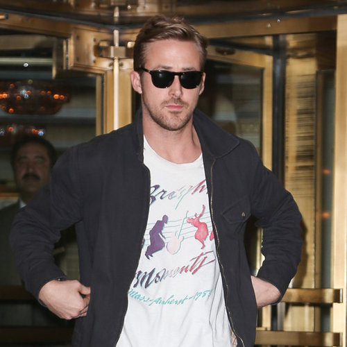 Ryan Gosling and Eva Mendes in NYC For Movie Press