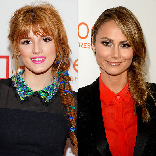Funk up your fishtail braid with Bella Thorne and Stacy Keibler's twisted plaits as inspiration.