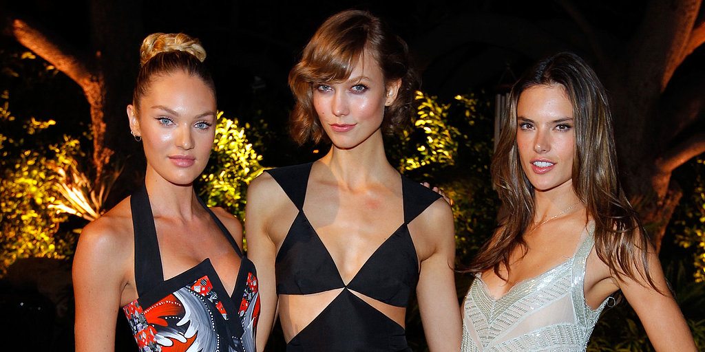 VS Angels Show Skin and Celebrate Following a Bikini-Filled Day