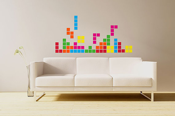 Create a life-size version of the colorful game with these wall decal pieces ($55).