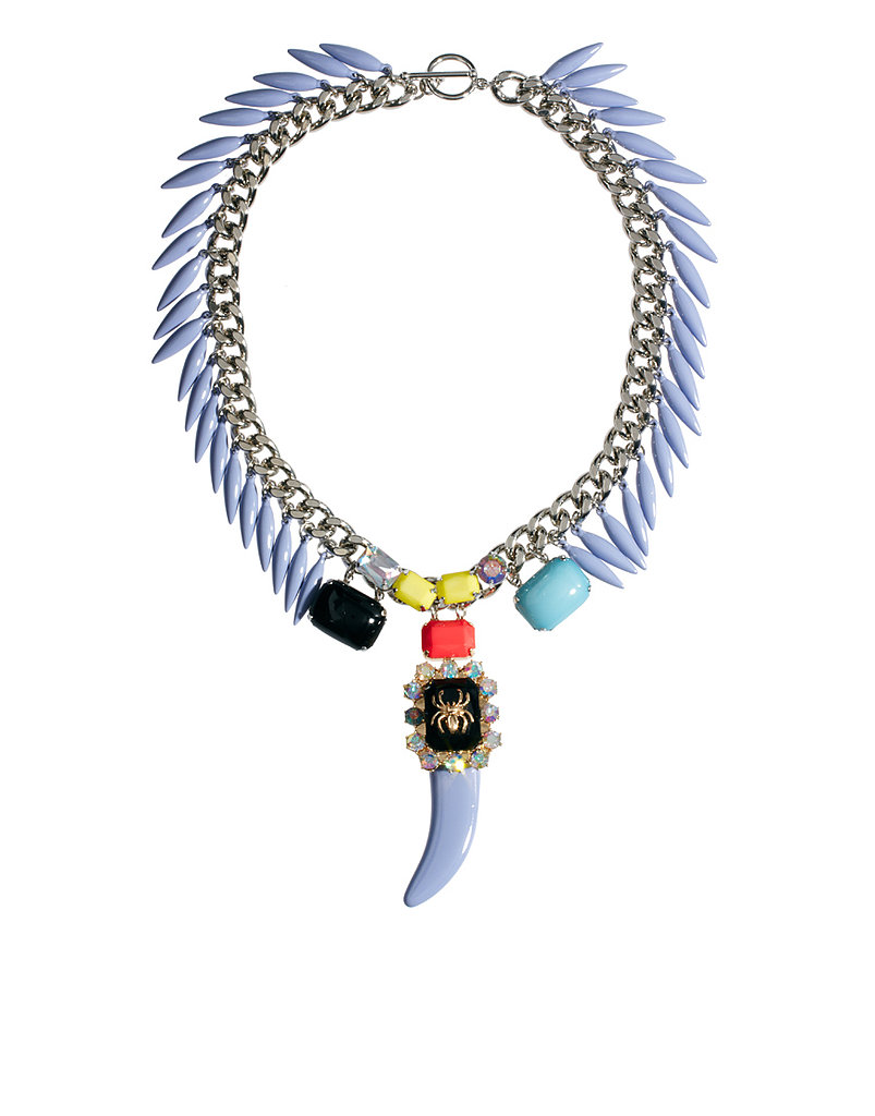 Afraid to go all the way? Add a dose of pastel into your look with this ASOS pastel horn necklace ($68).