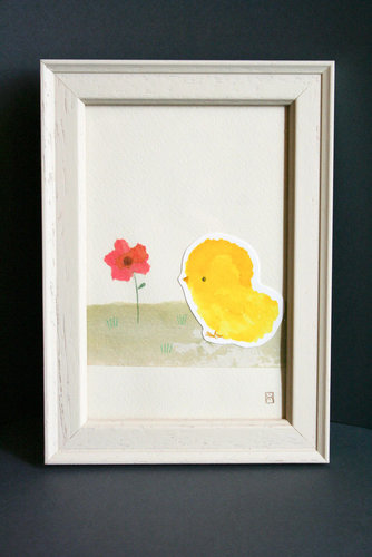 Madame Rhubarbe Chick and Poppy Print